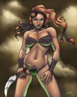 Barbarian Girl by umbrafox