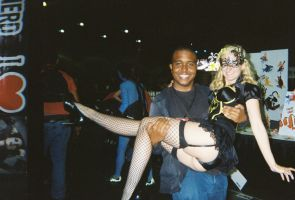 Me and Batgirl Maid (panty shot) by coreybrown1994