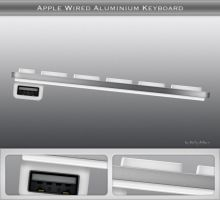 Apple Wired Aluminium Keyboard by philipskillern