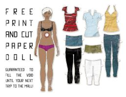 Void Filling Paper Doll by l-fischer