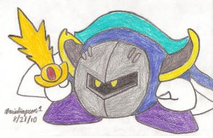 Meta Knight Drawing by MarioSimpson1