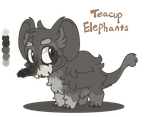 Teacup Elephant ADOPT #2 by JaneGumball