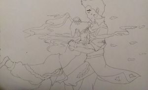 Mako and Korra Falling to Pieces by imagex-animestar