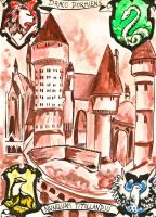 Hogwarts by oxyderces