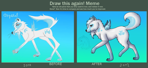 Draw this again meme - filled by Bloodsiri