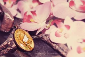 Pendant with flowers by nabey