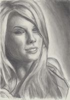 Taylor Swift Portrait by bearOnUnicycle
