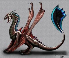 Razorbacked Wyvern by RadiantGlyph