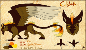 Elijah ref sheet by Thealess