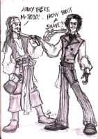 Jack Sparrow Vs. Sweeney Todd by IbeTROLLIN