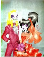 Beetlejuice wedding by Aznara