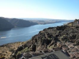 Columbia River Landscape Right by RFHartwell