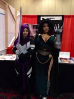 Psylocke and Dr. Doomkitty by CarolineCosplay