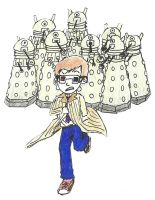 Doctor vs. Daleks by machinegunbam1