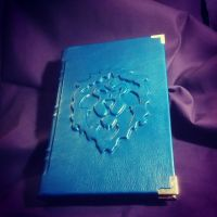 Leather World of Warcraft Alliance hand made book by MerrillsLeather