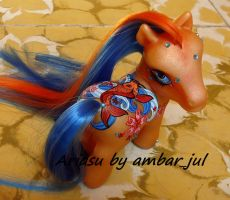 My little pony custom Ariasu by AmbarJulieta