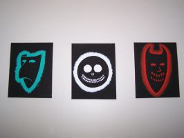 Lock Shock and Barrel Masks by thedarkness007