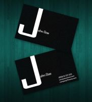 Dark Businss card by Freshbusinesscards
