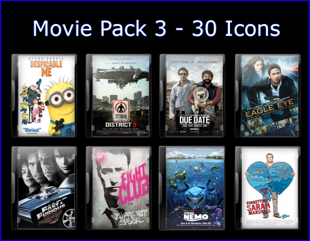 Movie Pack 3 - 30 Icons by jake2456