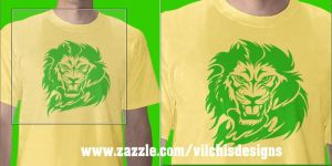 T-shirt:Lion by Vilchis