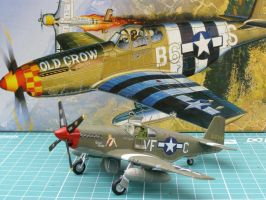 Mustang P-51B 'Rebel Queen' by WKucza