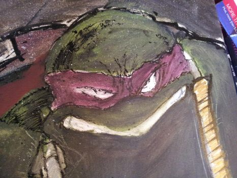 Mikey Canvas piece 24x30 by phour-nyne-guy