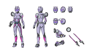 Kamen Rider Rush reference sheet by Yuuyatails by Kiva-la