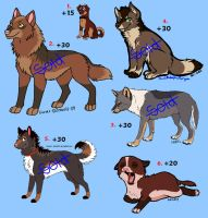 Point Adoptables - ALL SOLD by Fantasy-and-Fiction