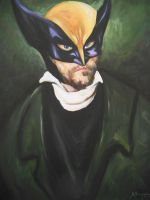 Portrait of a Wolverine by HillaryWhiteRabbit