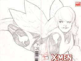 X Men Pixie Sketch cover by TeamAmazing
