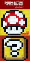 Super Mario Bros Knit Patterns by colormist