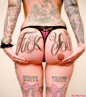 Fuck you Tattoo by mrswhitetrash