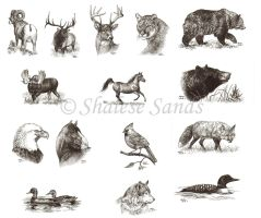 Ink Drawings by Misted-Dream