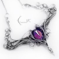 NANTILUX - silver and amethyst by LUNARIEEN