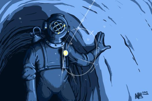 diver concept art by NHMorrissey
