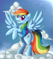 Rainbow Dash Painting by Pony-Spiz