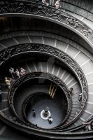 Musei Vaticani, Exit staircase by StephanieHadley
