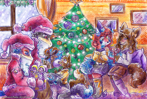 Two Santas at work by Pharaonenfuchs