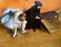 Degas's Waiting by AnnaSulikowska