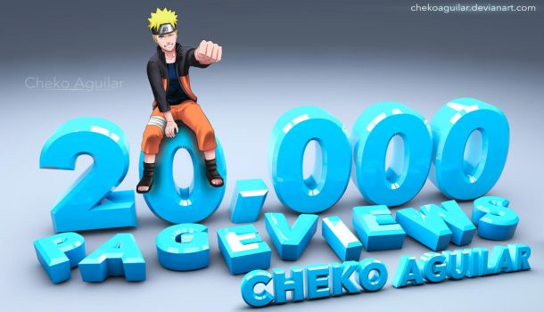 20,000 Pageviews by ChekoAguilar