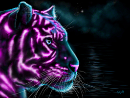 Neon Tiger by ToastWeasel