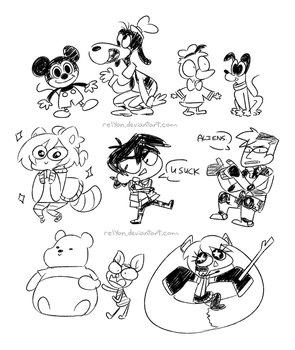 DOOFY DOODLES #1 by relyon