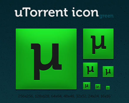 uTorrent icon green by dmpr0