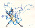Lucario and Lugia by Jiayi