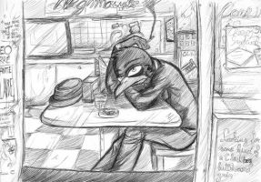 Nighthawks at the Diner by Shadow-Nexus