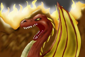Angry Dragon by Marceleen