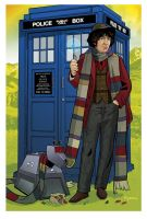 K9 and 4th Doctor by KellyYates