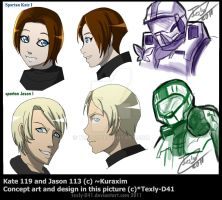 Kate and Jason Concept Art by WinterSpectrum