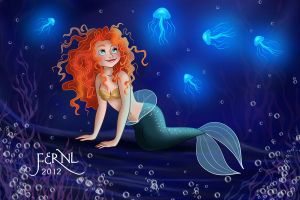 MERIDA IS A MERMAID by FERNL