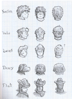 Mother 3 Characters' Reference by FJLink